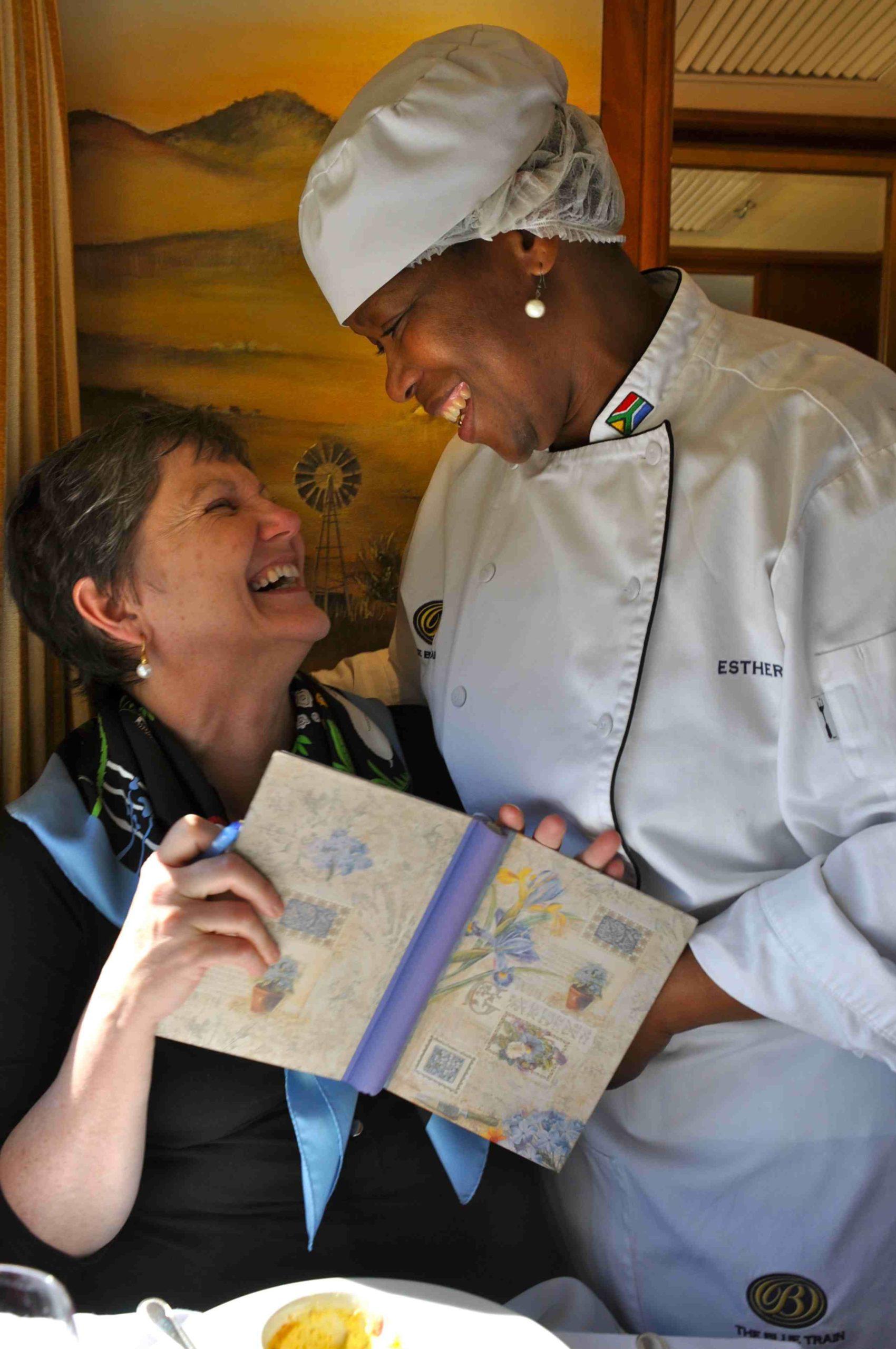 Eleanor Hardy and Blue Train chef