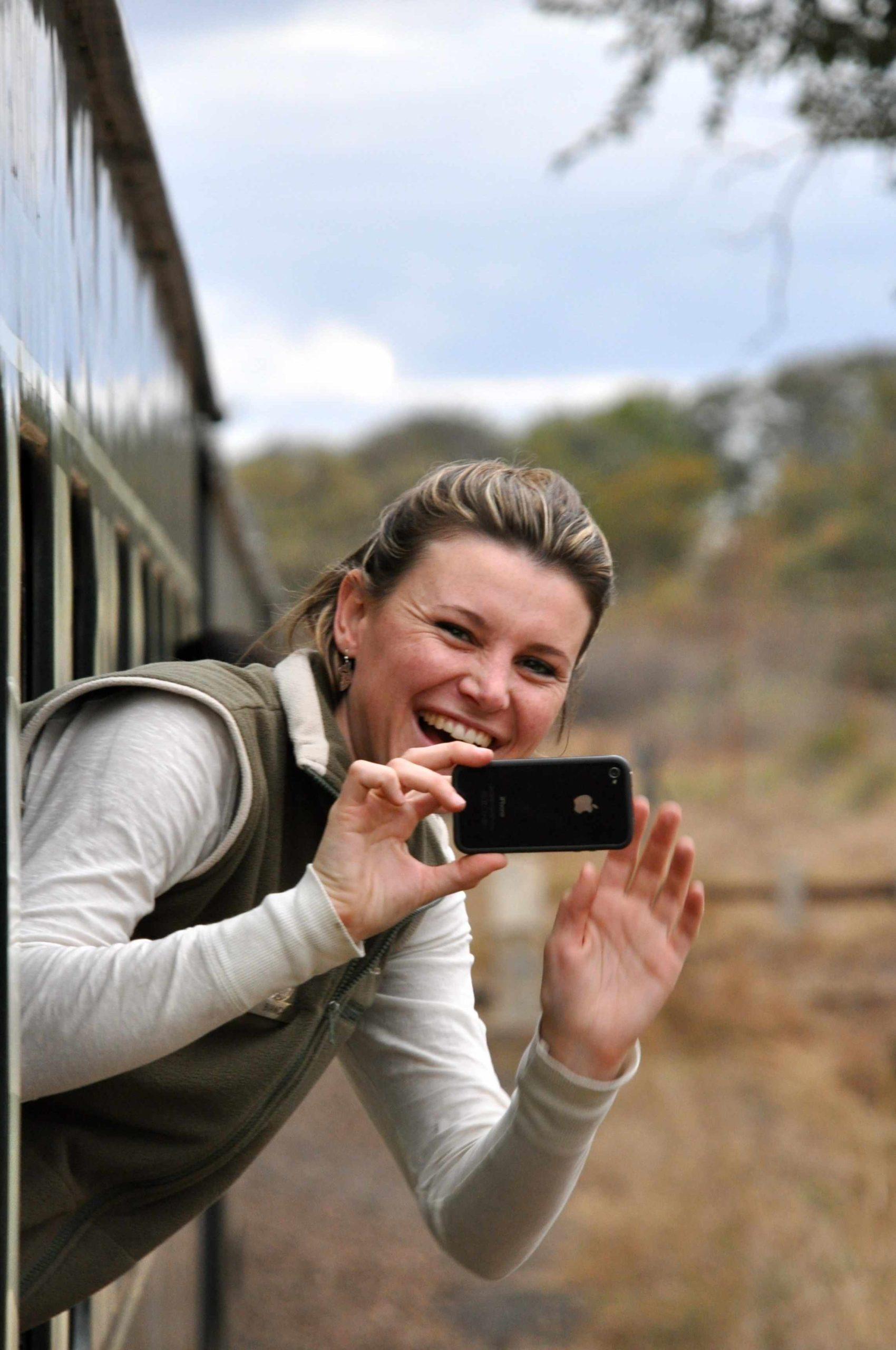 Bianca Vos on Rovos Rail