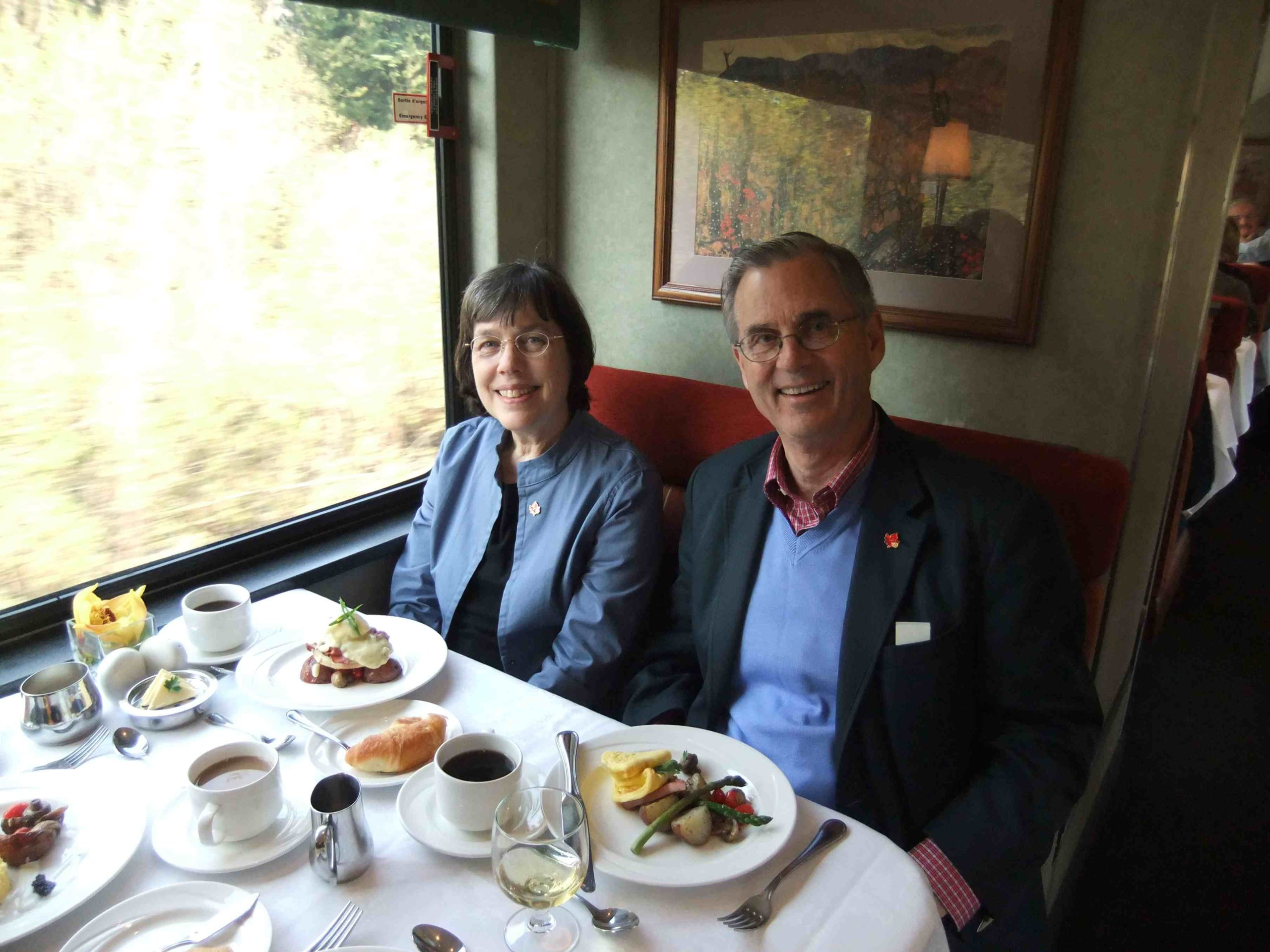 Diners on Rocky Mountaineer
