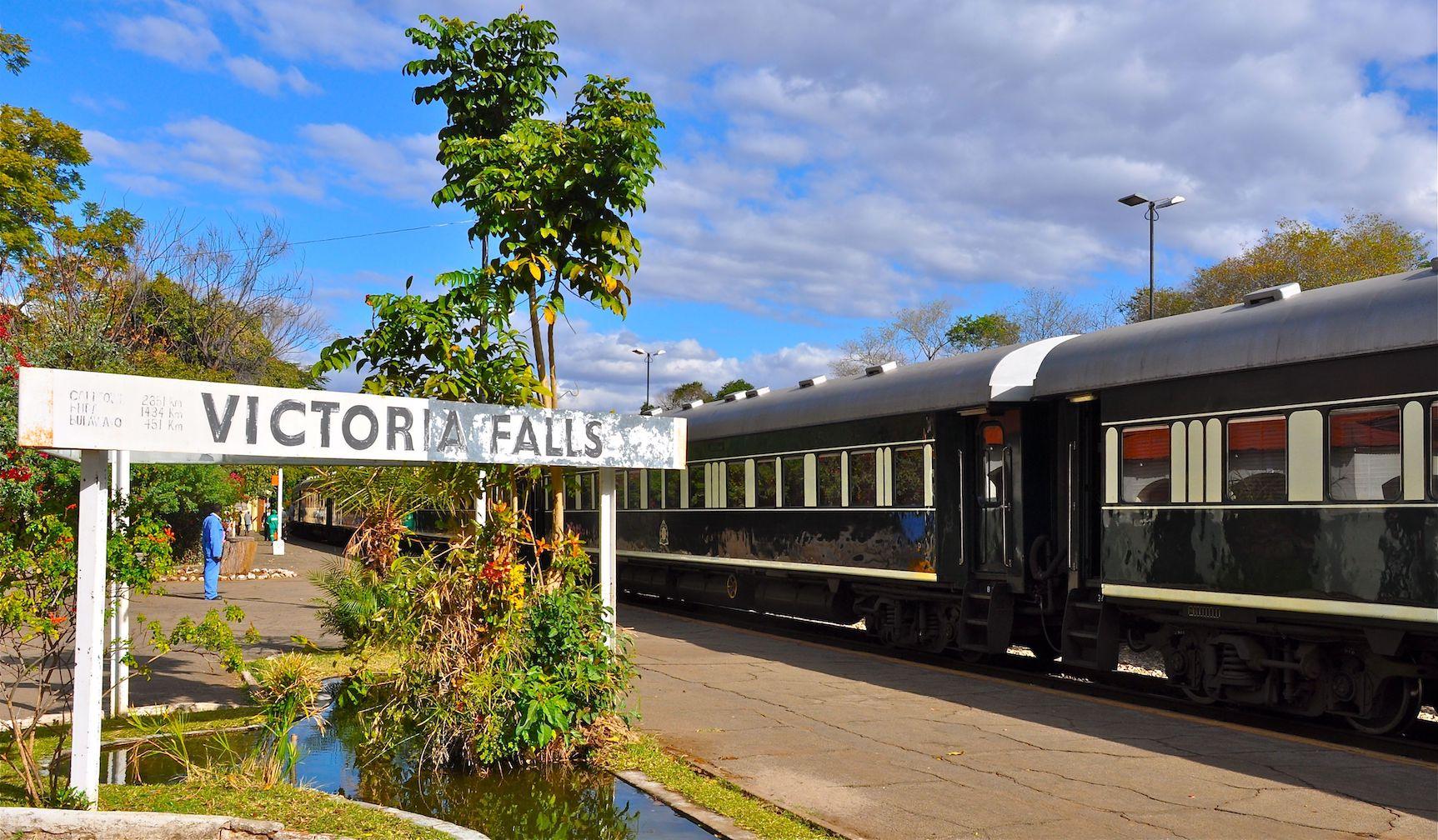 Rovos Rail at Victoria Falls.