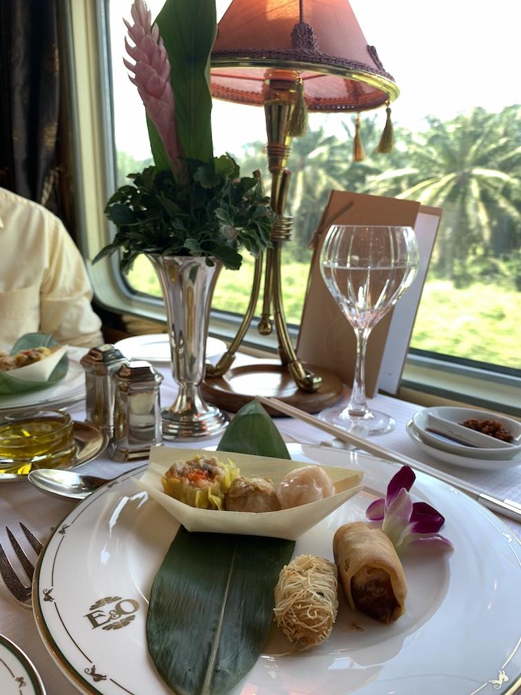 Dim Sum lunch on Eastern & Oriental-Express