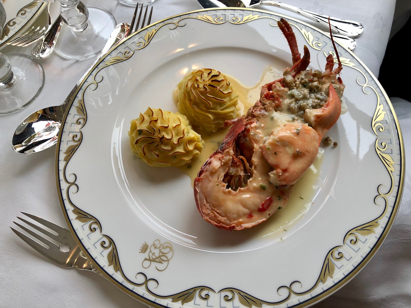 Lobster brunch on Venice Simplon Orient Express.