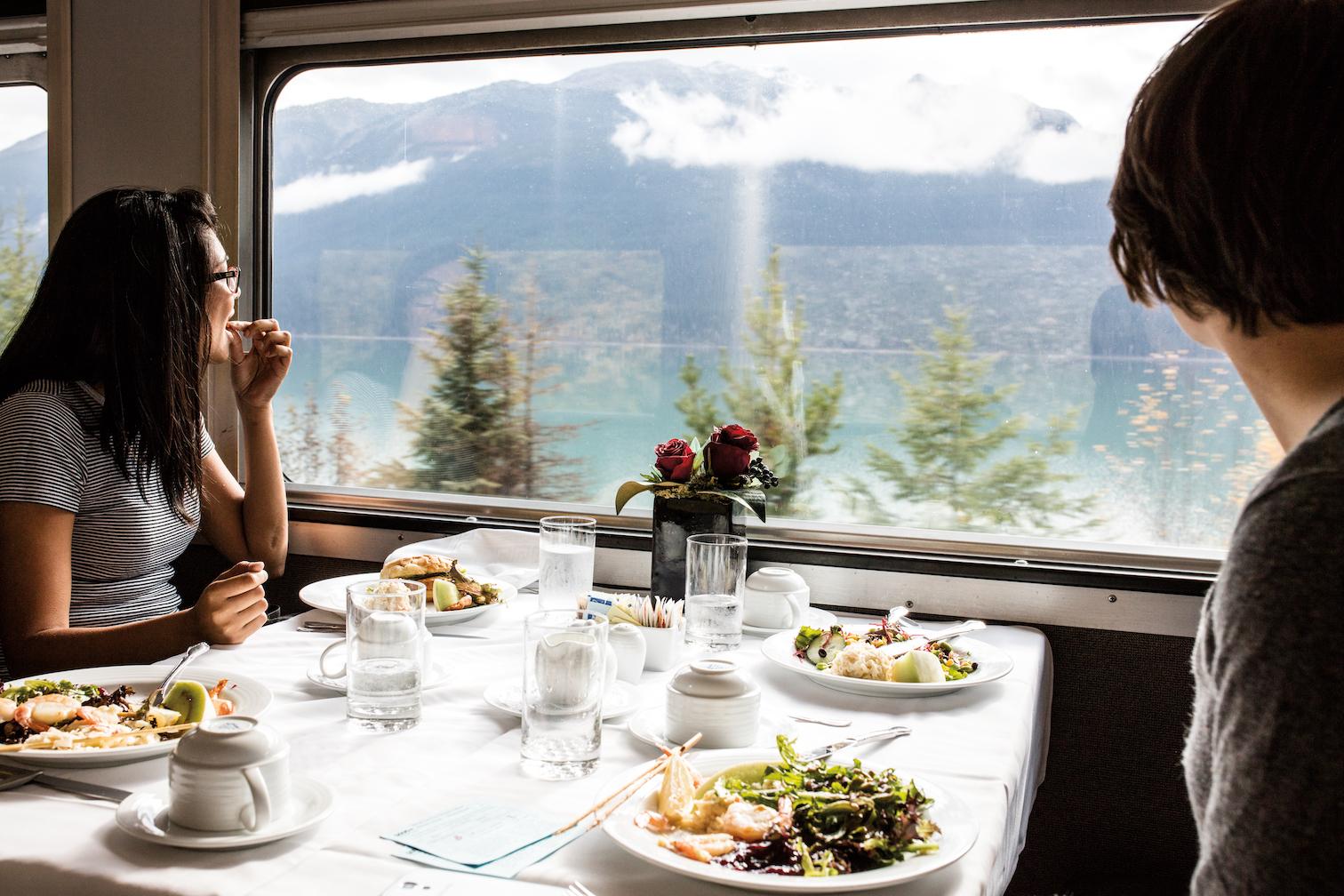 Via Rail Canadian diners