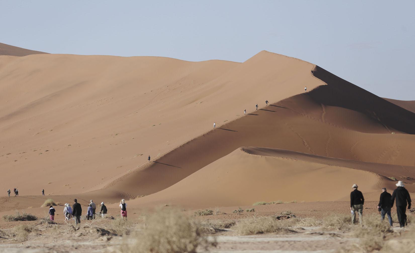 Rovos Rail Namibia Safari Sossusvlei dune walk.