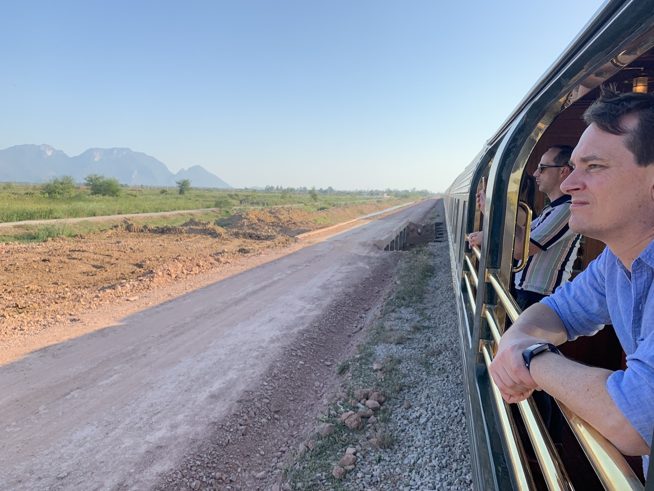 Looking out of Eastern & Oriental Express observation car