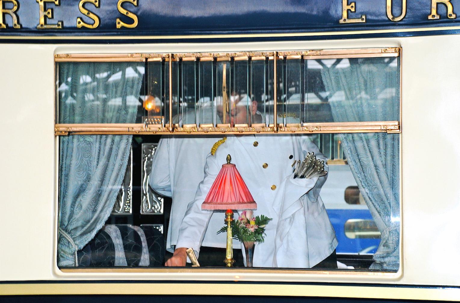 Venice Simplon-Orient-Express VSOE wait staff dining car
