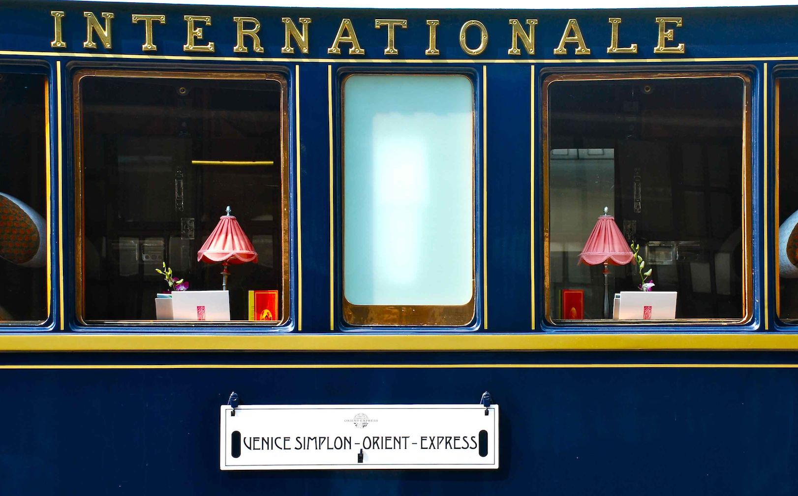 Venice Simplon-Orient-Express VSOE train exterior