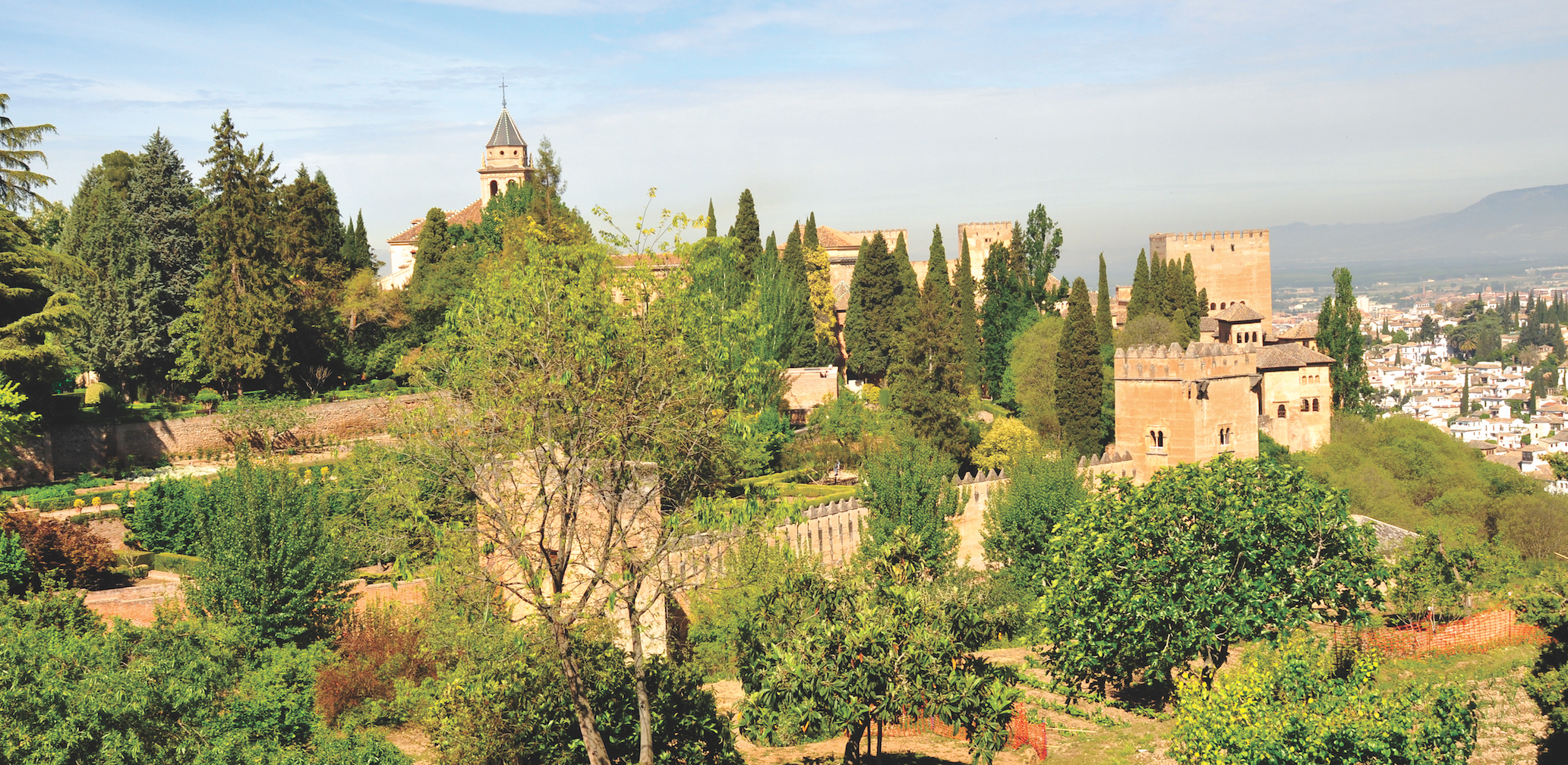 The famed Alhambra and view of Granada city below.  Photo by Angela Walker.