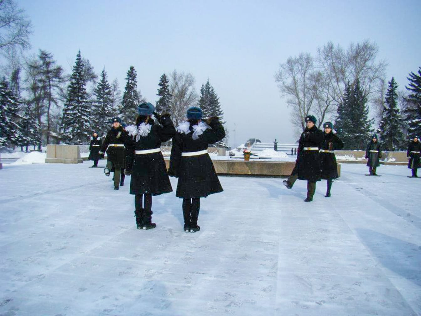 Women in uniform in Moscow on the Arctic Explorer – Quest for the Northern Lights journey