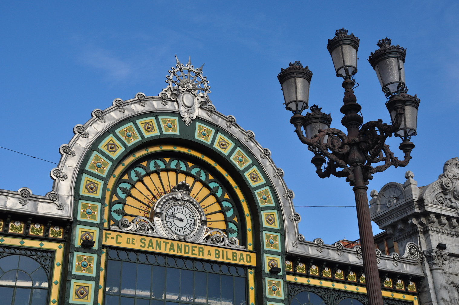 Bilbao train station on El Transcantábrico Gran Lujo: Santiago-San Sebastián Luxury Train journey