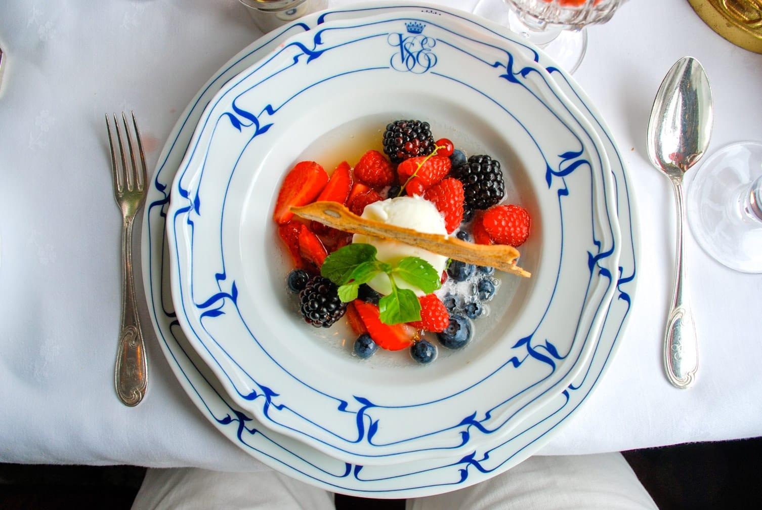 Dessert on the Venice-Budapest-Paris-London journey