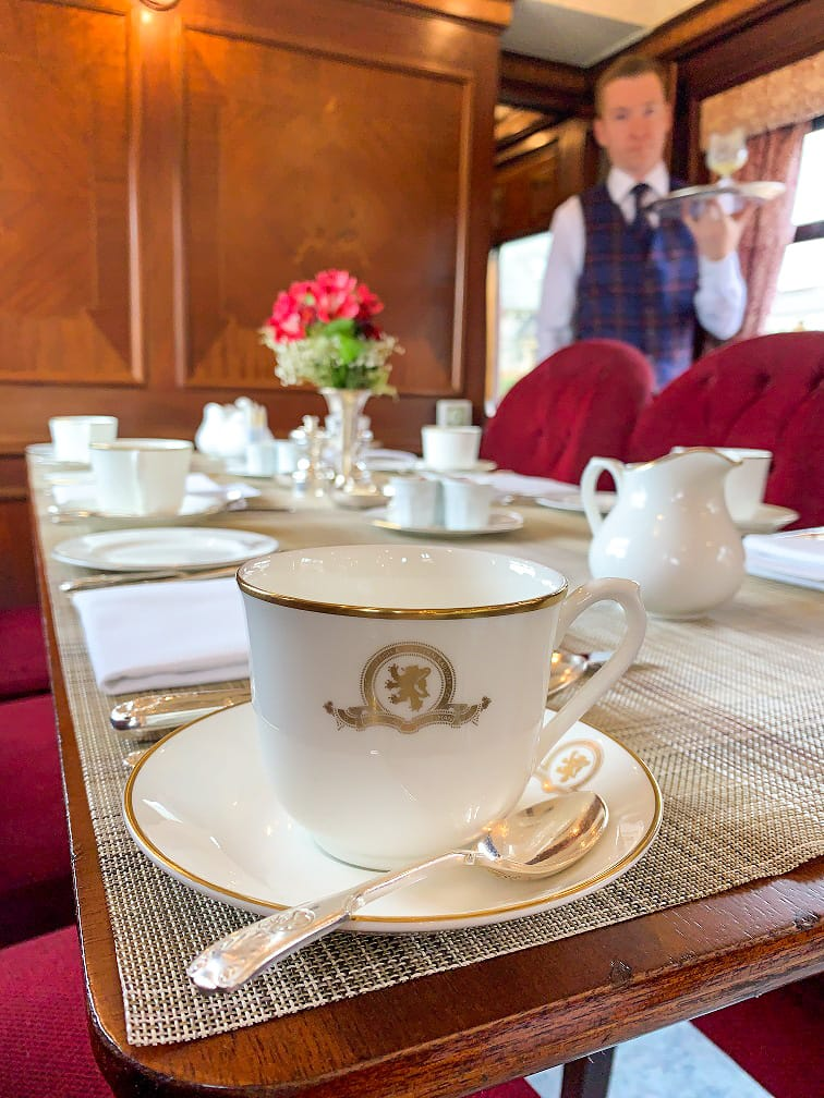 Coffee cup on the Grand Tour of Great Britain journey
