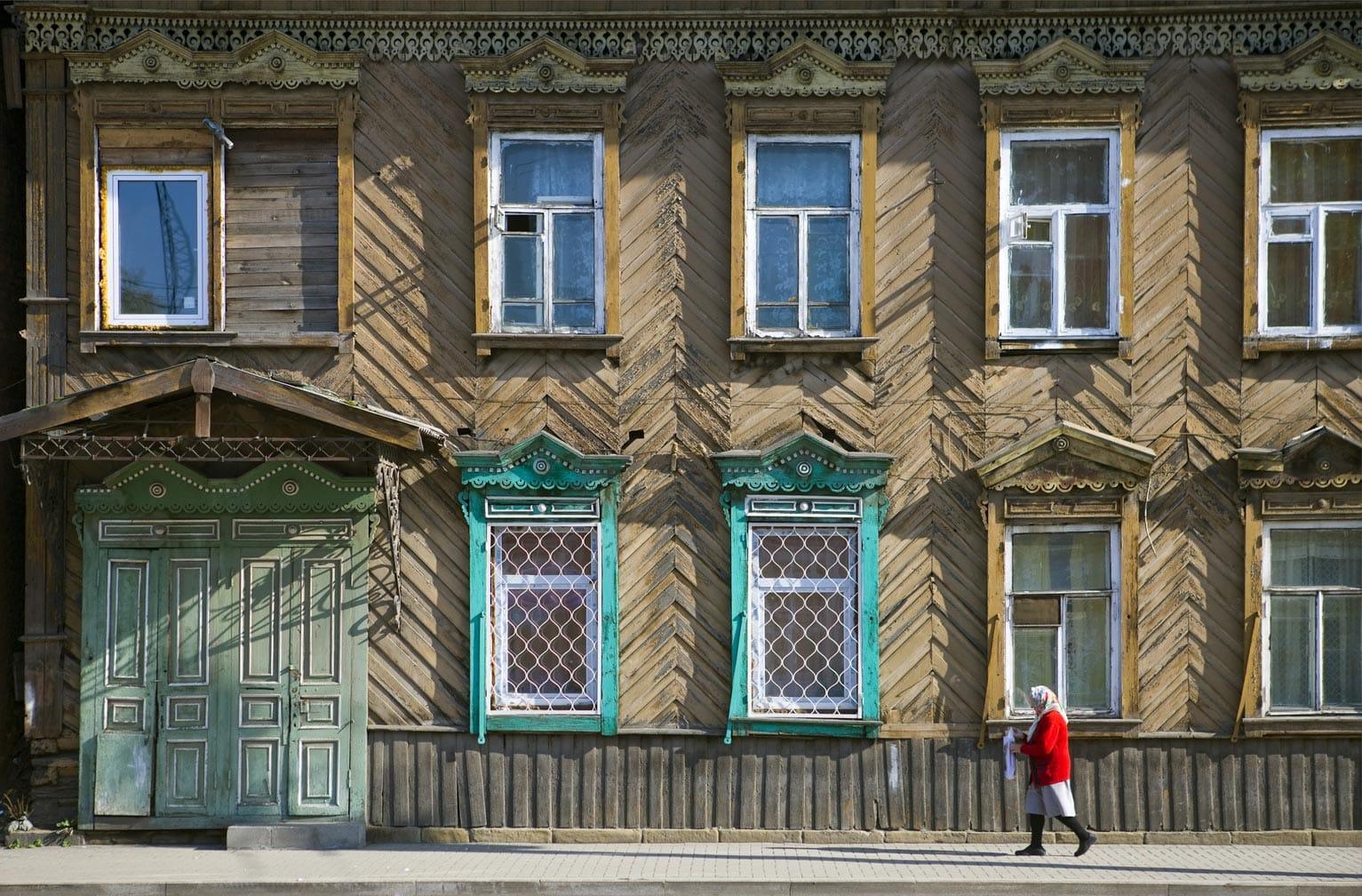 Irkutsk houses on the Ulaan Baatar Express: Moscow to Ulaan Baatar journey