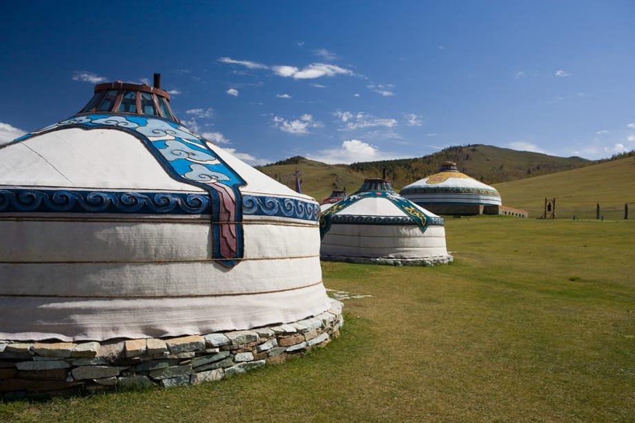 Mongolian houses on the Ulaan Baatar Express: Moscow to Ulaan Baatar journey