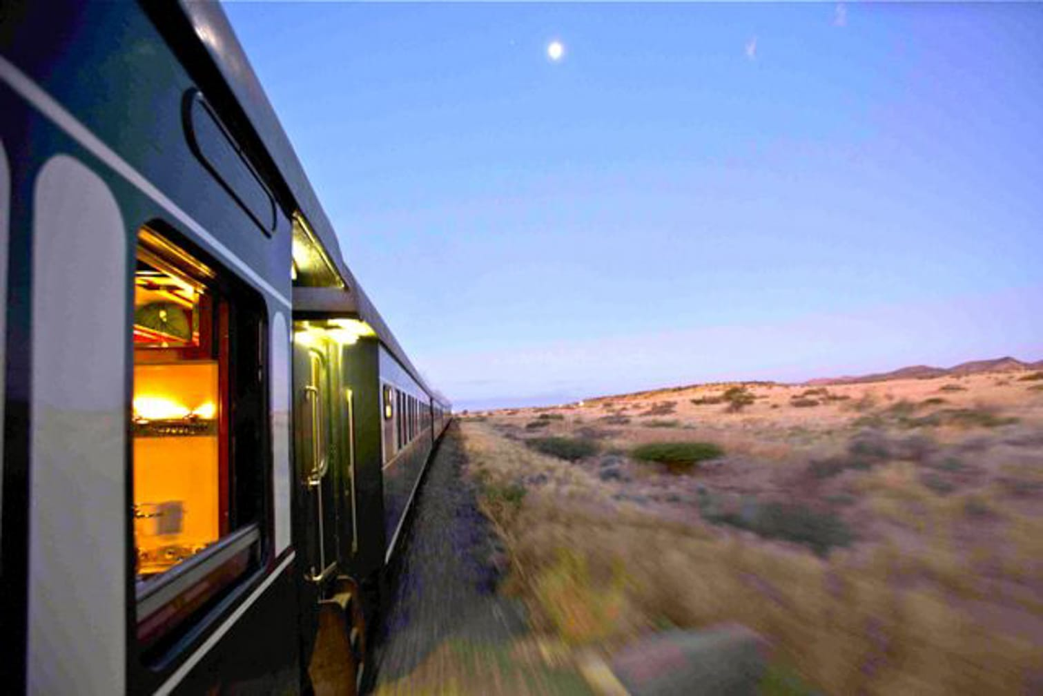 Train on the Namibia Safari by Luxury Train aboard Rovos Rail's Pride of Africa journey