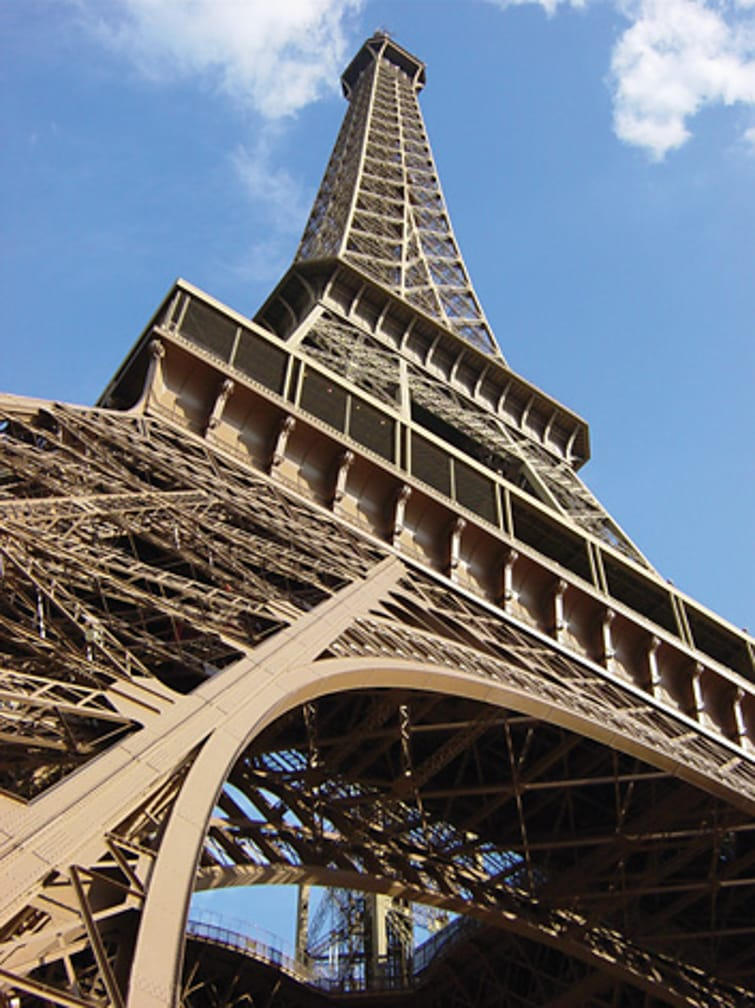 Eiffel Tower on the Paris to Istanbul Annual Journey on the Venice Simplon-Orient-Express journey