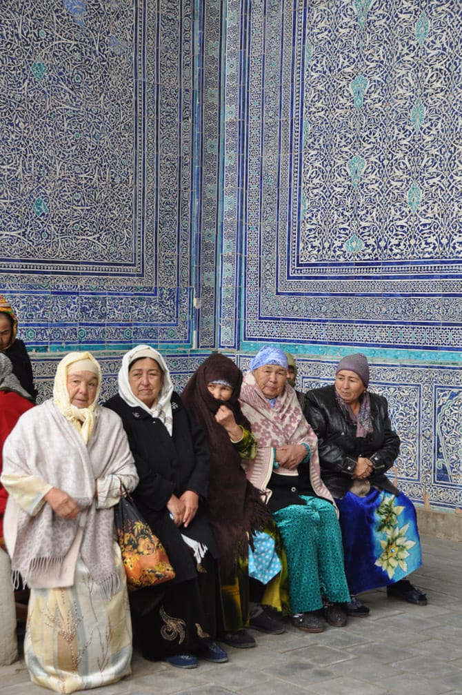 Women sitting on The Silk Road: Beijing to Moscow by Private Train journey
