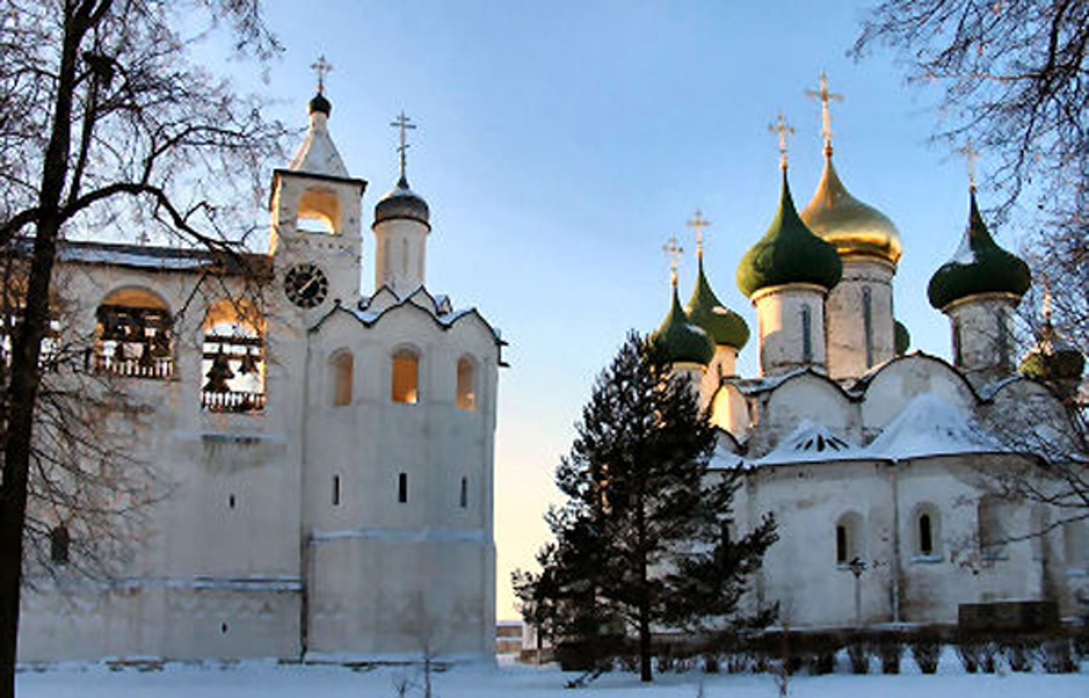 Church covered in snow on the Trans-Siberian Express Winter Wonderland journey