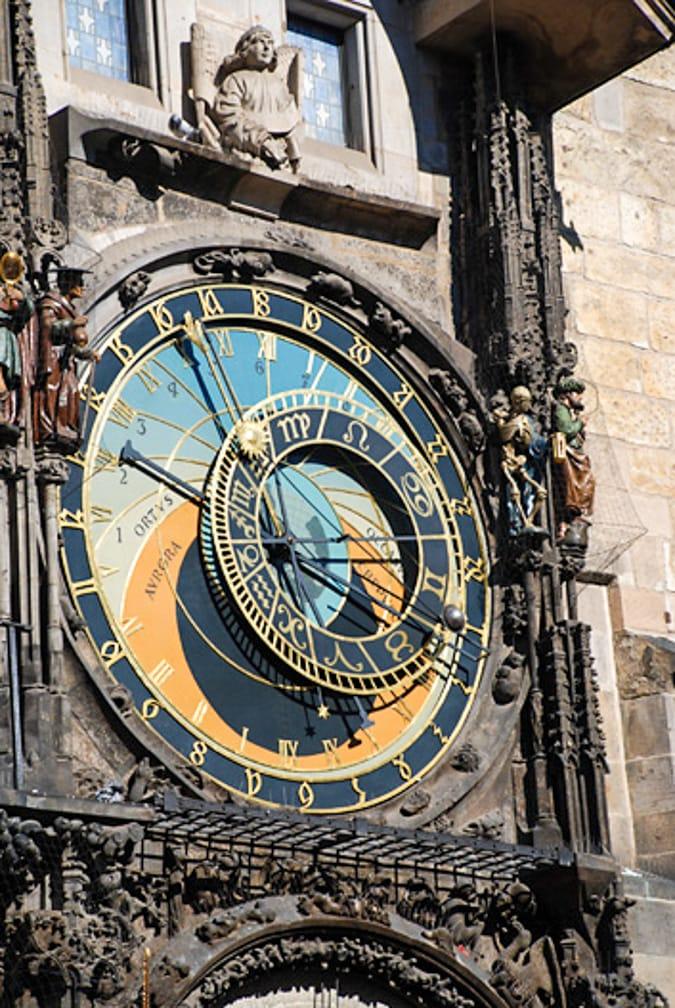 Clock tower on the Venice-Prague-Paris-London journey