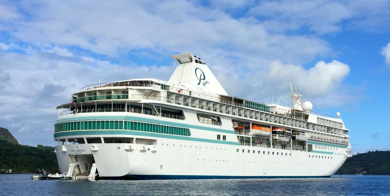 One of the m/s Paul Gauguin's many features: a rear watersports deck. IRT Photo by Angela Walker
