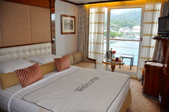 All cabins on the Paul Gauguin have ocean-facing views. IRT Photo by Angela Walker
