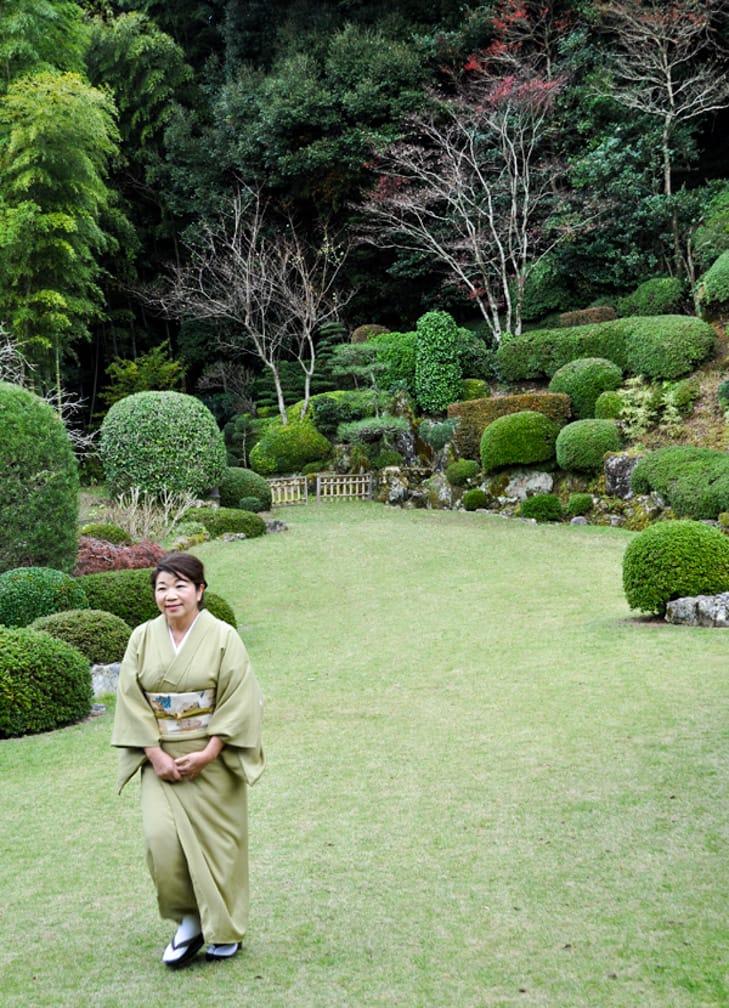 Japanese garden tour on the Japan Luxury Rail Tour journey