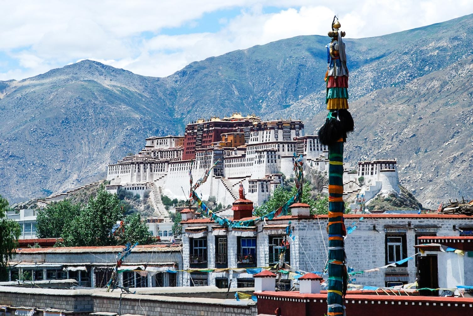 Potala views on the China and Tibet Rail Discovery journey