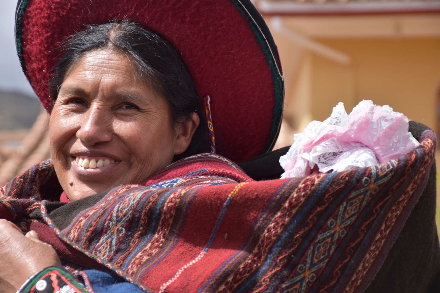 Peru Andean Woman with baby.