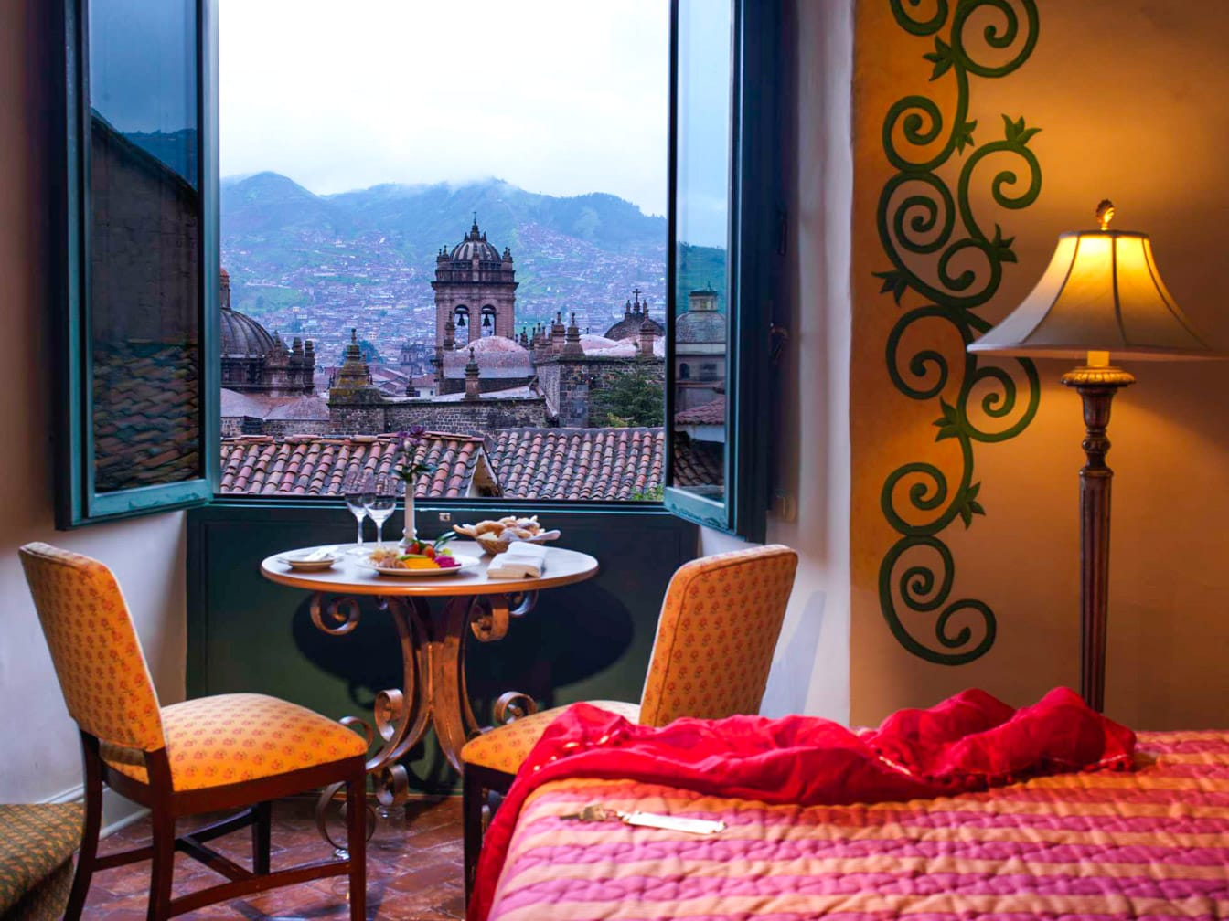 Bedroom with balcony on the Peru: Journey to a Lost World journey