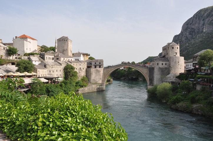 Dragon Bridge in Mostar. IRT Photo by Angela Walker.