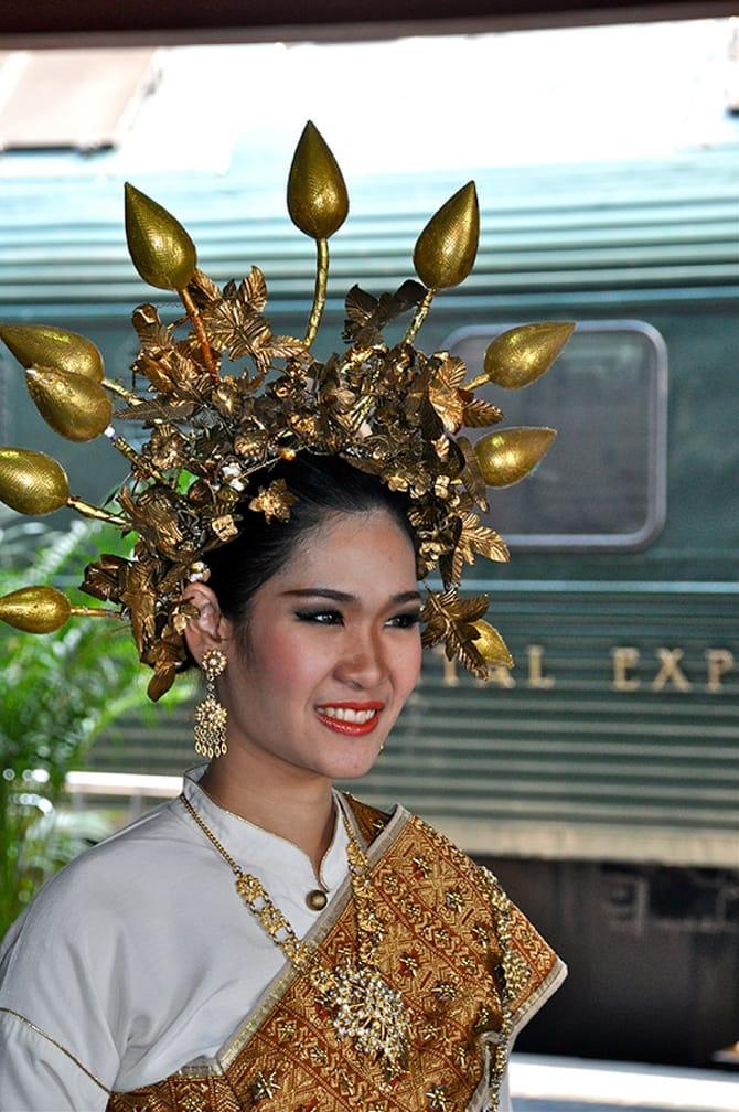 Dancer on the train on the Bangkok-Kuala Lumpur by Luxury Train journey