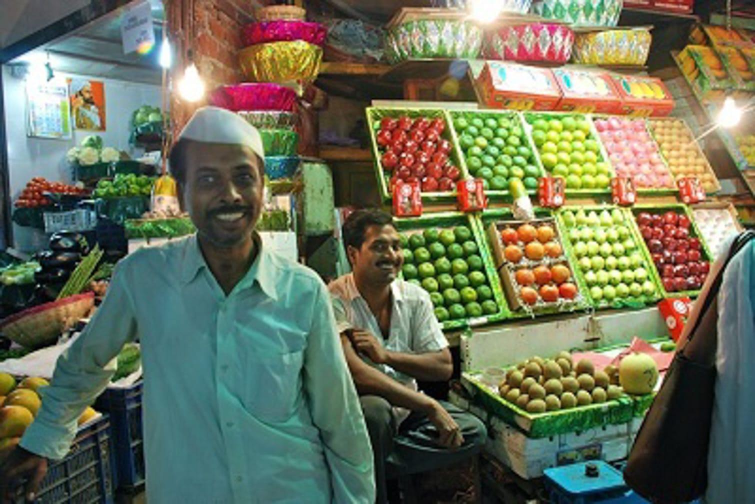 Produce vendor on the Darjeeling Mail: Mumbai to Kolkata by Luxury Deccan Odyssey Train journey