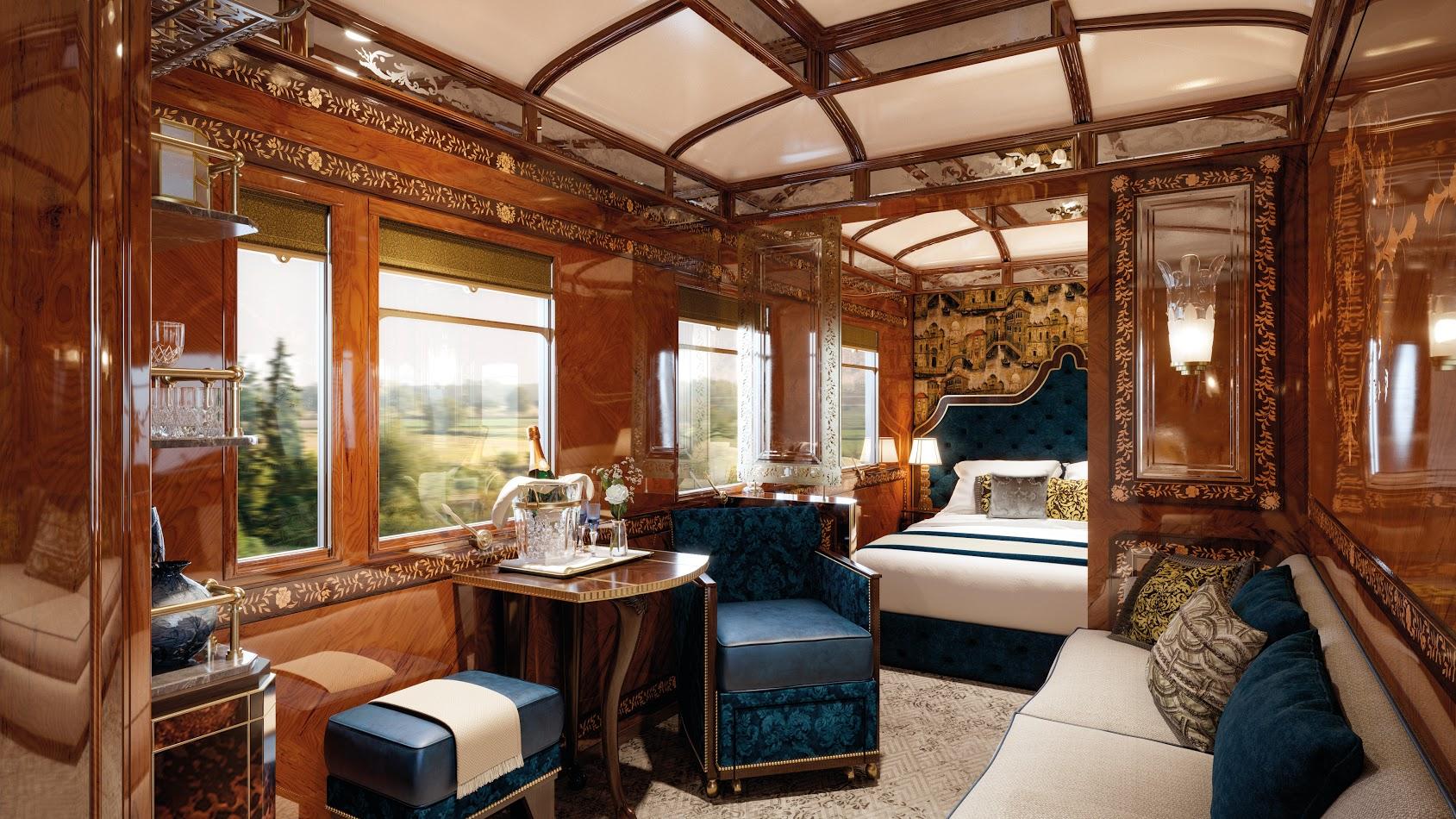 Grand Suite 'Venice' on the Venice-Simplon-Orient-Express.