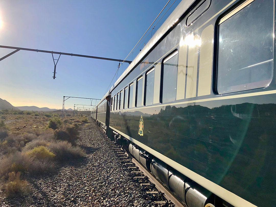 aa -Sunny morning train outside Majiesfontein edited small