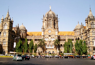 Chhatrapati Shivaji Terminus in Mumbai.