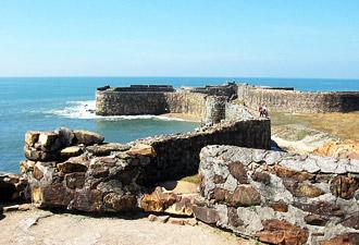 Sindhudurg, an island just off the coast of Malvan.