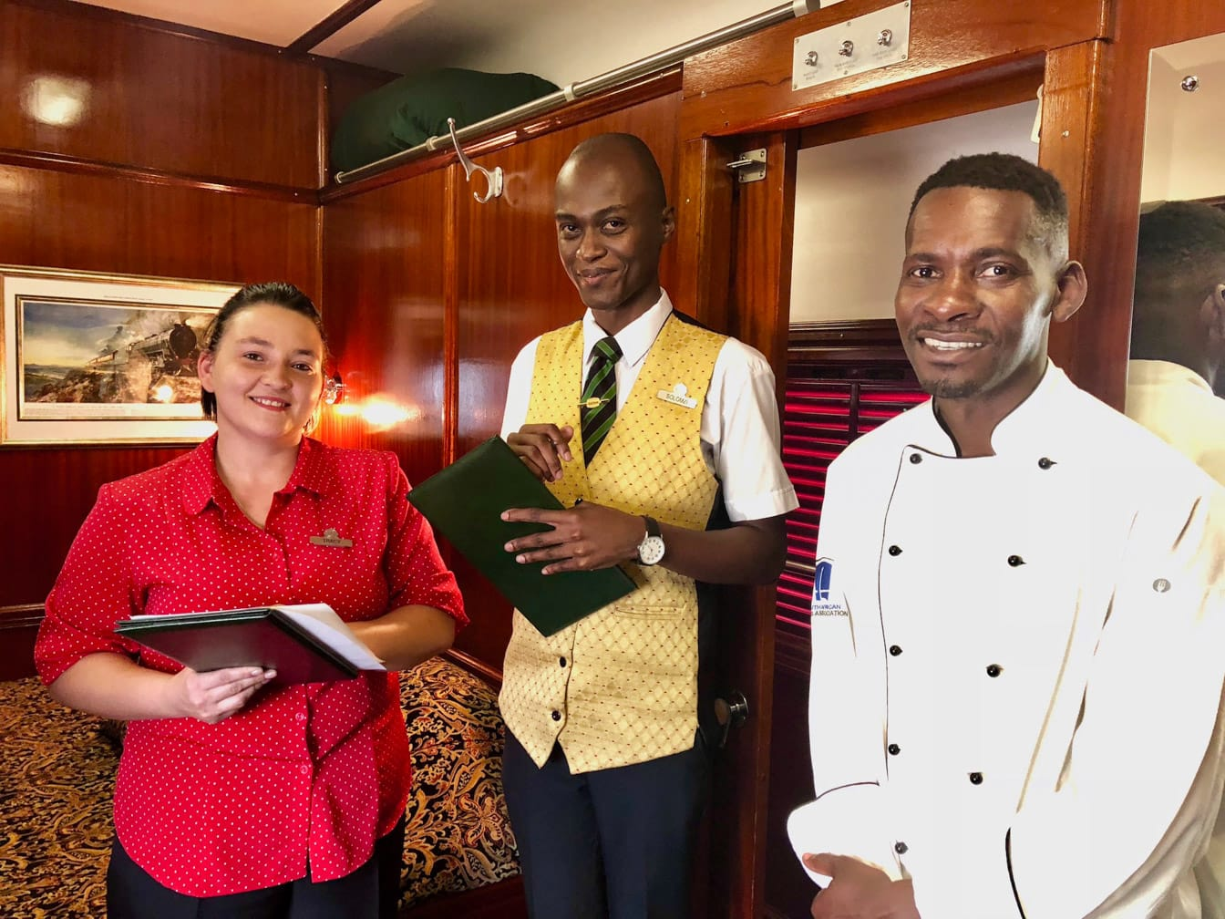 Three staff on the Dar es Salaam to Lobito: Trail of Two Oceans journey