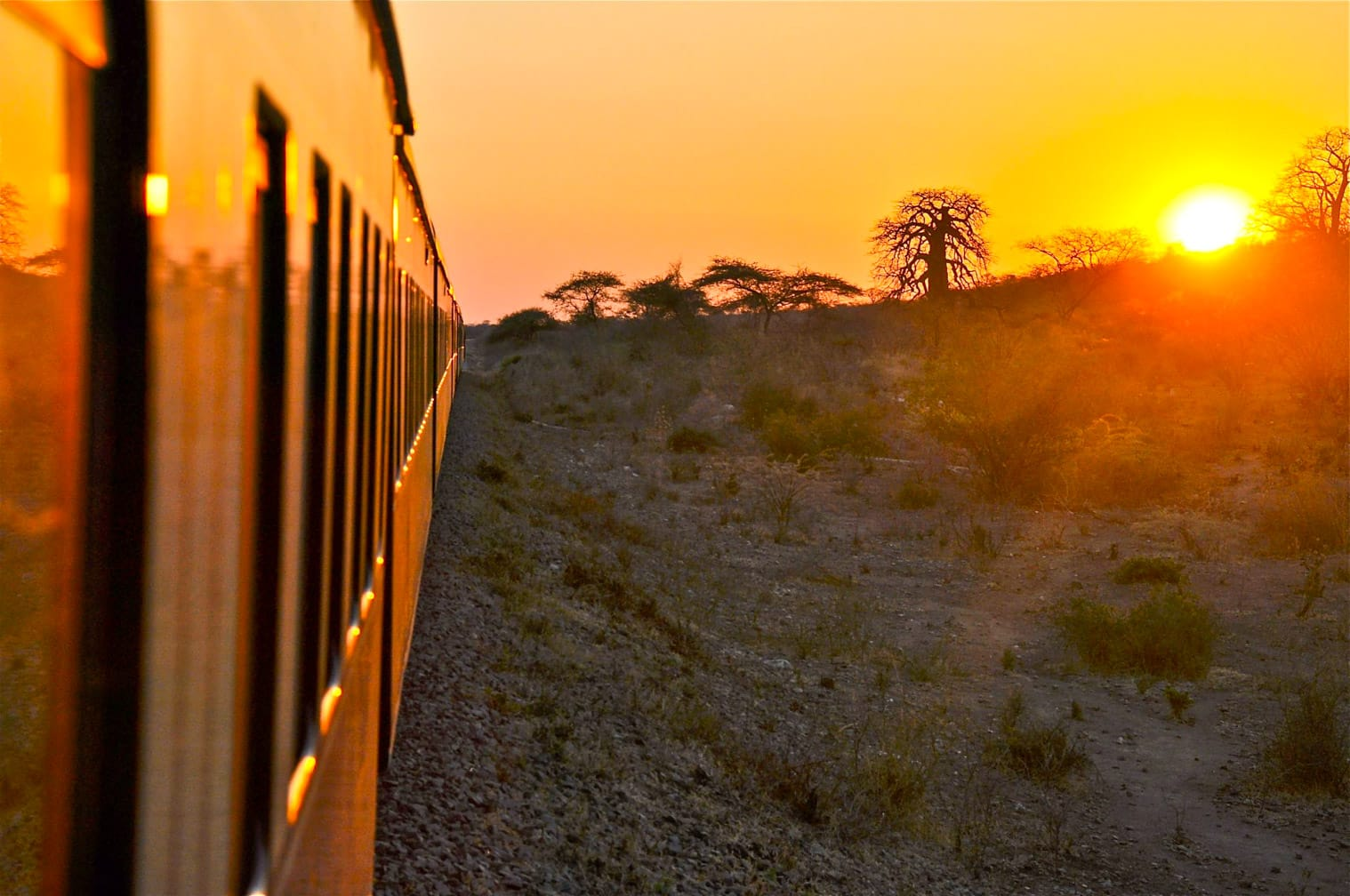 Sunset on the Dar es Salaam to Lobito: Trail of Two Oceans journey