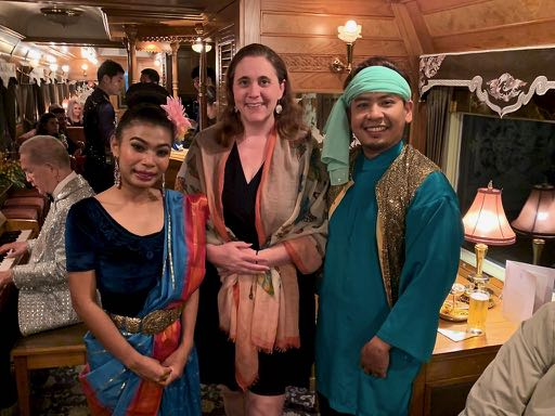 Angela with Malaysian dancers horizontal