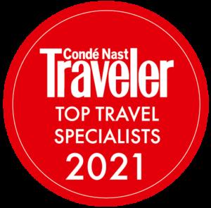 Red Conde Nast top traveler specialist logo 2021