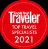 Conde Nast top traveler specialist logo 2021