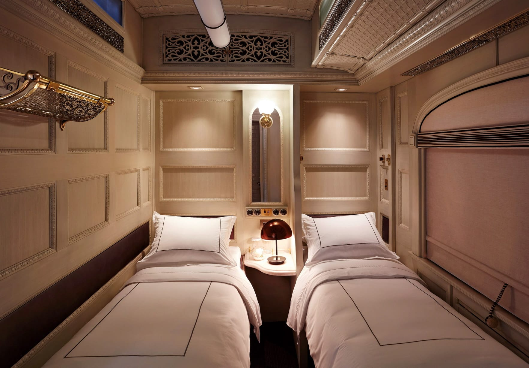 Twin beds on the Belmond Andean Explorer