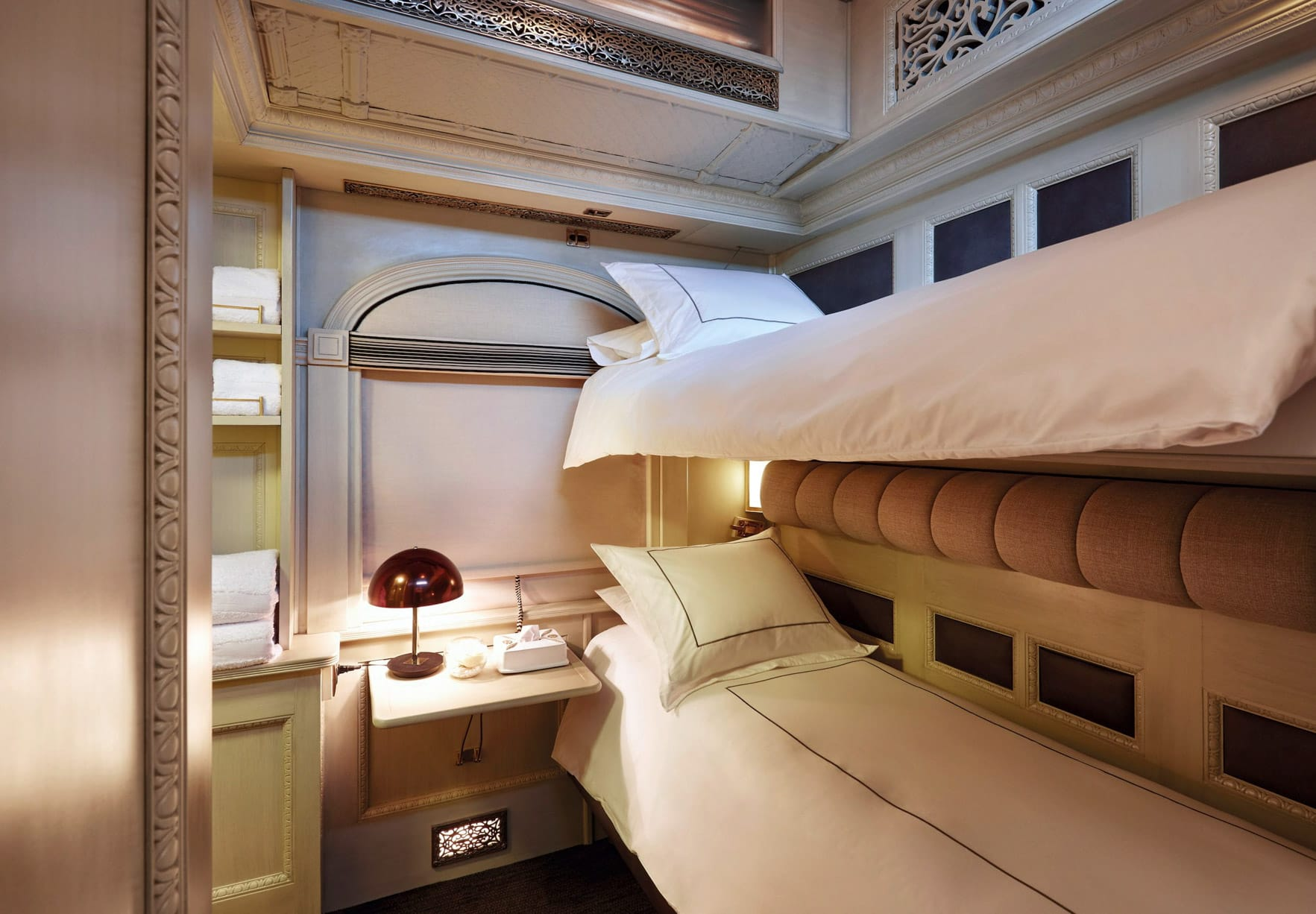 Twin bunk bed on the Belmond Andean Explorer train