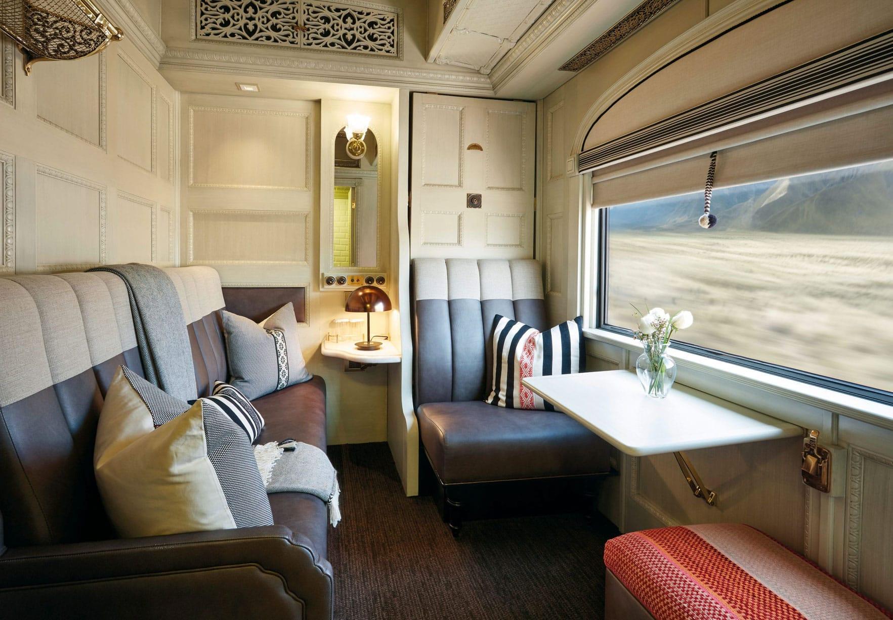 Living area on the Belmond Andean Explorer train