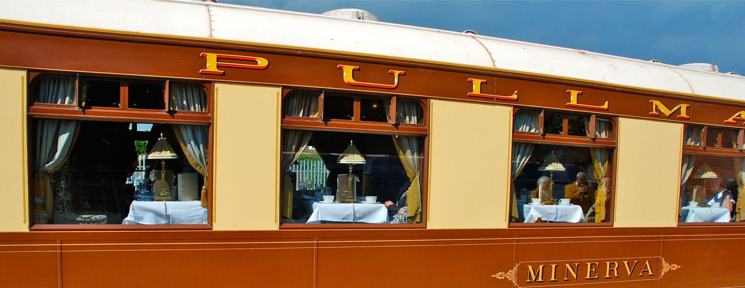 Exterior of the Belmond British Pullman train
