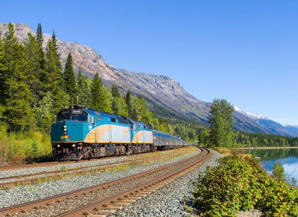Cropped Canadian train moose lake VIA Rail