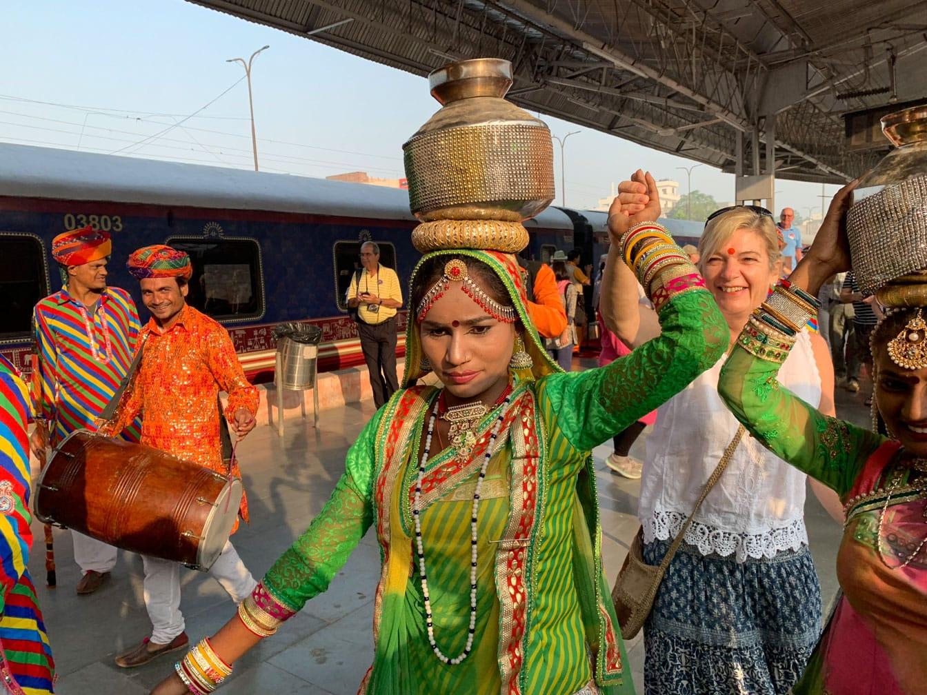Woman balancing a jug