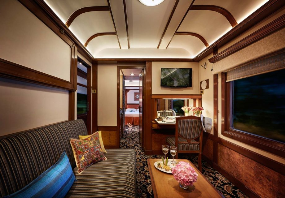 Presidential suite on the Deccan Odyssey train