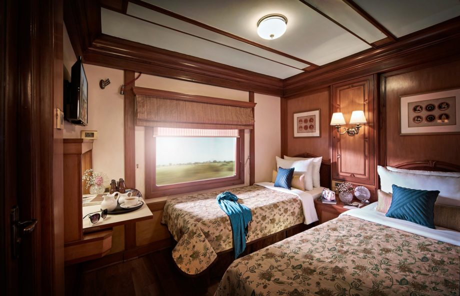 Twin room on the the Deccan Odyssey train
