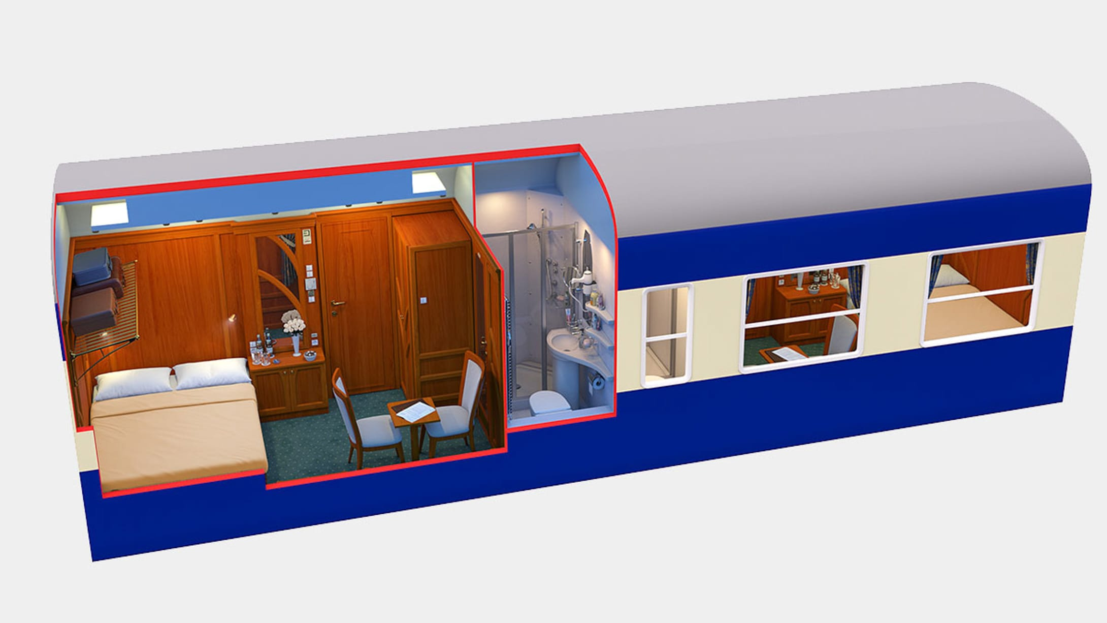 Golden Eagle Danube Express diagram interior